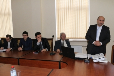 "Speech by Vilayat Ramazanov in the club of ""Young scientists and specialists"""
