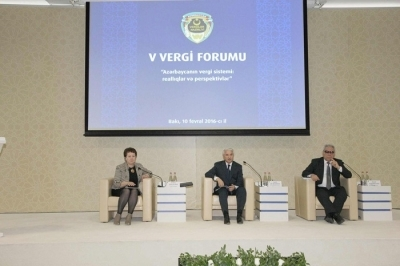 "Carried out tax forum on the theme of ""Tax system of Azerbaijan: realities and perspectives"""