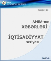 "Printed out the magazine of ANAS ""News"" Economic series, № 6, 2015"