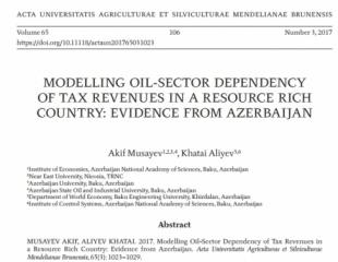 Professor Akif Musayevin Thomson Reuters-a daxil olan elmi jurnalda məqaləsi nəşr olunub